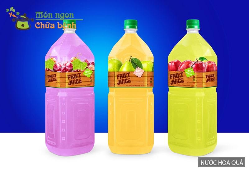 Nước hoa quả đóng chai có thể làm giảm nhu cầu sinh lý