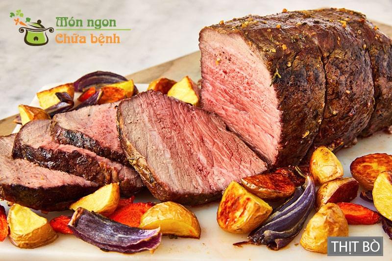 Thịt bò là thực phẩm đàn ông nên ăn để tăng cường cơ bắp