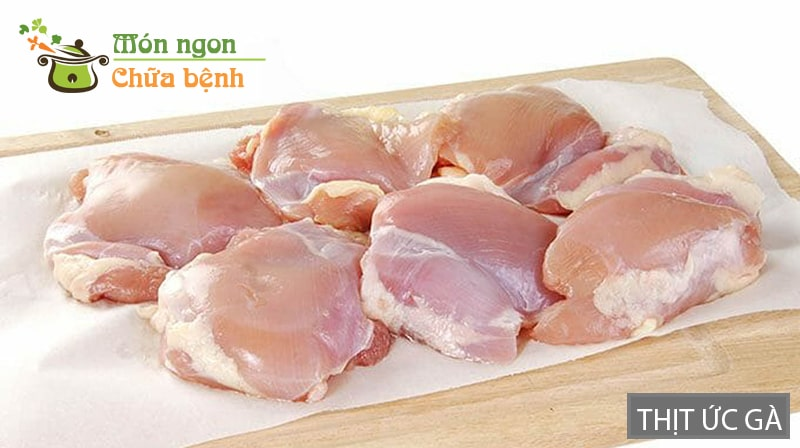 Thịt ức gà rất tốt trong việc tăng cường cơ bắp