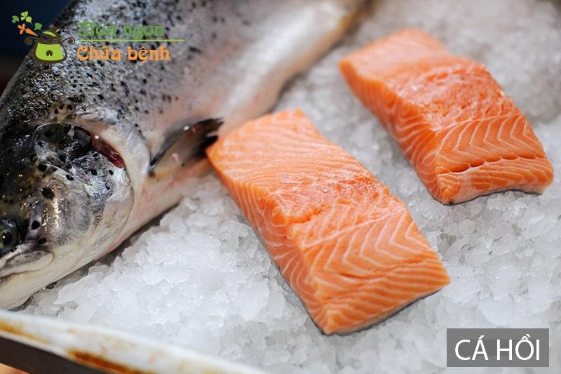 Cá hồi rất giàu Omega-3 tốt cho chuyện ấy của đàn ông