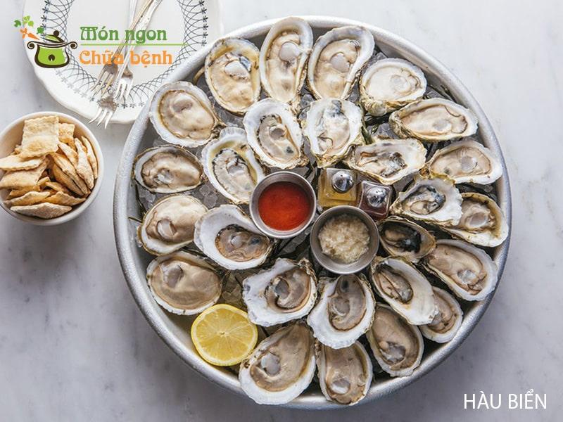 Hàu là loại hải sản giúp tăng lượng dopamine tăng cảm giác ham muốn