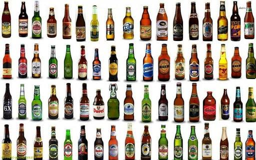 Bia phổ thông có rất nhiều nhãn hiệu khác nhau
