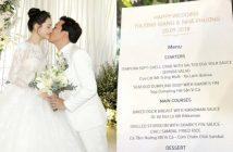 Choáng váng với thực đơn đám cưới xa hoa của các sao Việt
