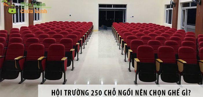 Thiết kế hội trường 250 chỗ ngồi nên chọn ghế gì?