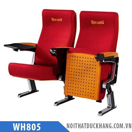 Ghế hội trường WH805 chân đôi bám sàn hình chữ L