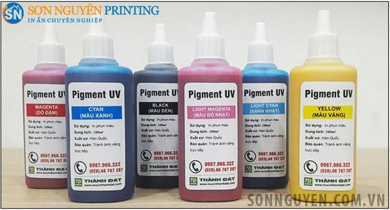 6 màu mực in Pigment UV