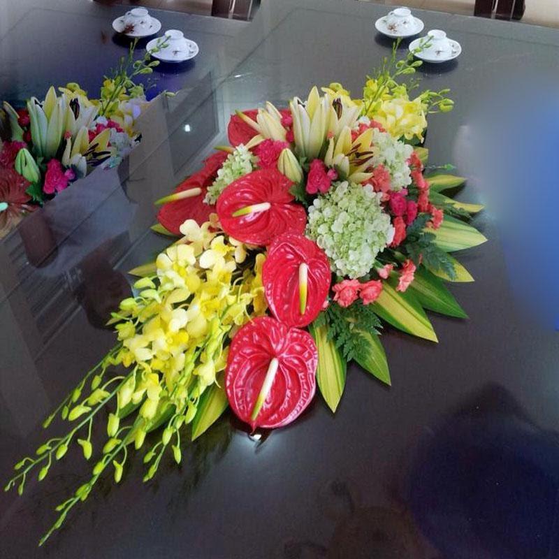 Hoa tiểu hồng môn cũng là loại hoa thường dùng trong hội nghị